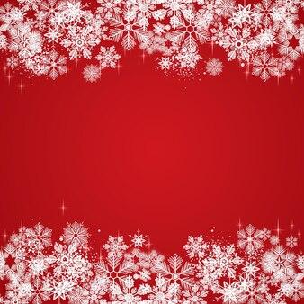 Białe płatki śniegu zima ilustracja tło