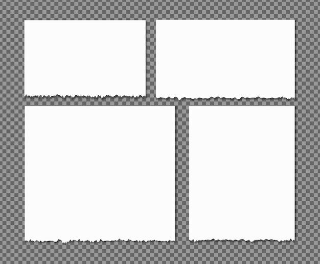 Białe podarte paski, zestaw różnych skrawków papieru, notatnik, przyklejone notatki do tekstu lub wiadomości