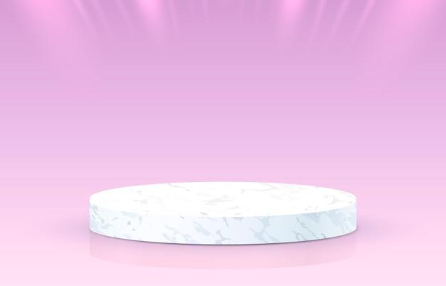 Białe podium na gradientowym tle
