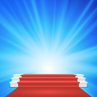 Białe podium zwycięzców