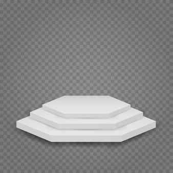 Białe podium