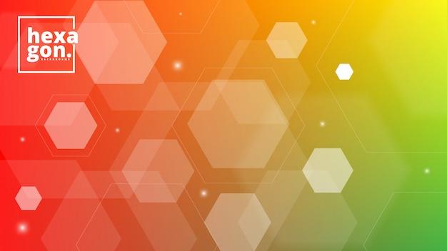 Białe pomarańczowe tło sześciokątów. styl geometryczny. siatka mozaiki. streszczenie sześciokąty deisgn