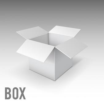 Białe pudełko makieta