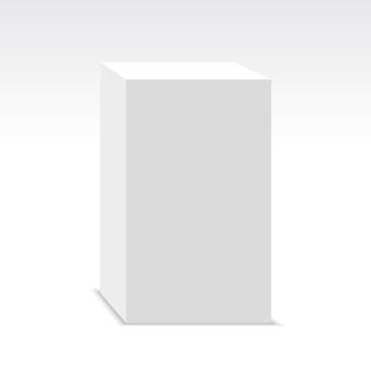 Białe pudło. pakiet. ilustracja.