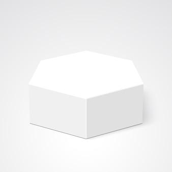 Białe pudło. pakiet. wielościan. .