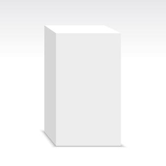 Białe pudło. piedestał. pakiet. ilustracja.