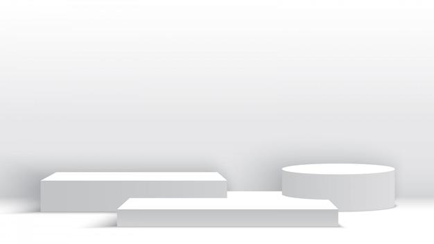 Białe puste podium
