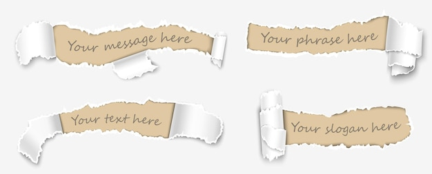 Białe puste szablony wiadomości lub notatki