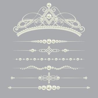 Białe realistyczne przekładki perłowe