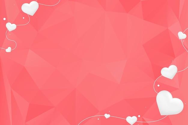 Białe serca na czerwonym tle