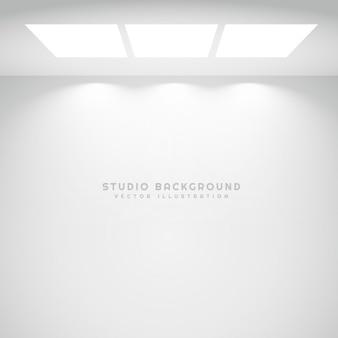 Białe światła tle studio