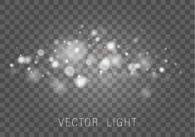 Białe światło streszczenie świecący efekt światła bokeh