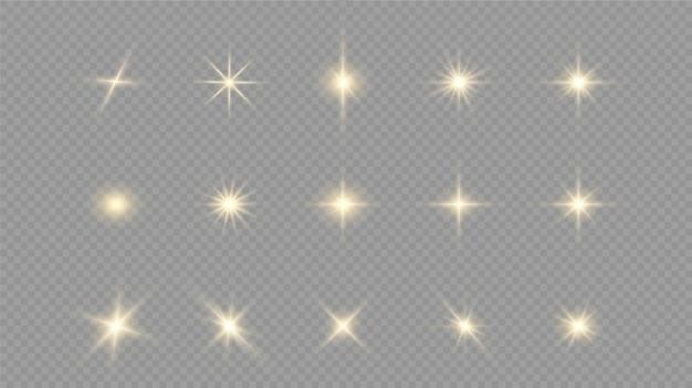 Białe świecące światło eksploduje na przezroczystym z promieniami.