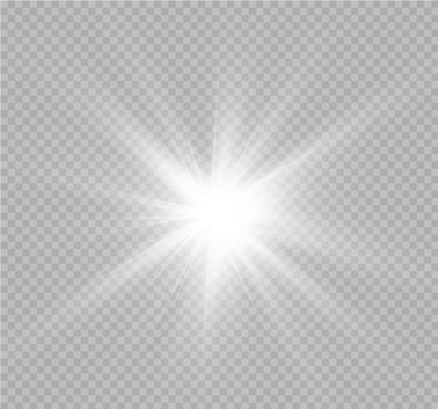 Białe świecące światło eksploduje