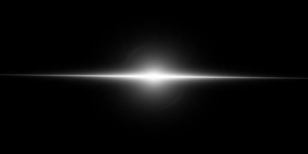 Białe świecące światło. jasna gwiazda, świecące słońce
