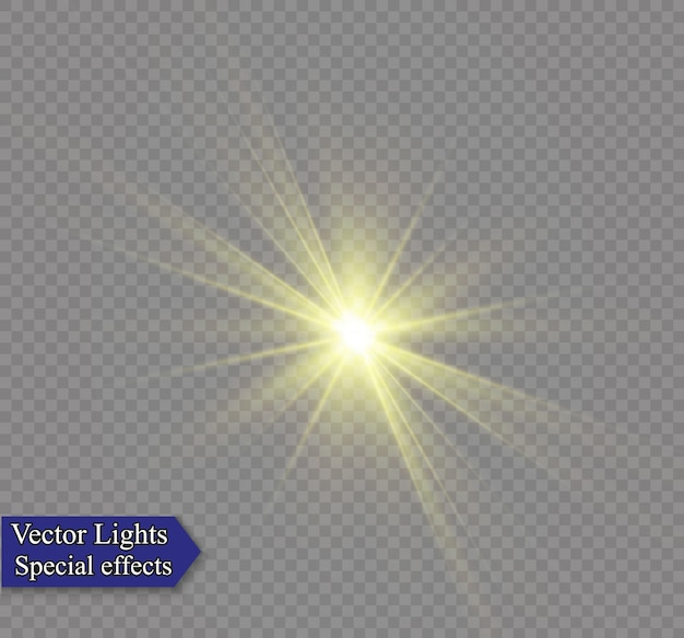 Białe, świecące światło wybucha na przezroczystym tle aby wyśrodkować jasny błysk.
