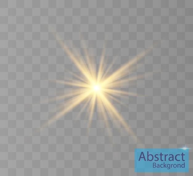 Białe świecące światło wybucha na przezroczystym tle bright star przejrzyste świecące słońce jasny błysk