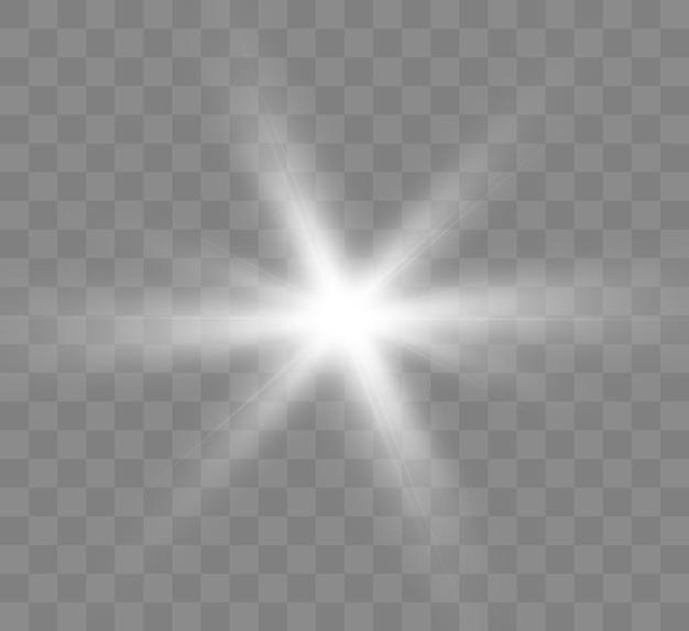 Białe świecące światło