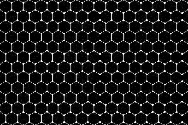 Białe sześciokątne wzorzyste tło