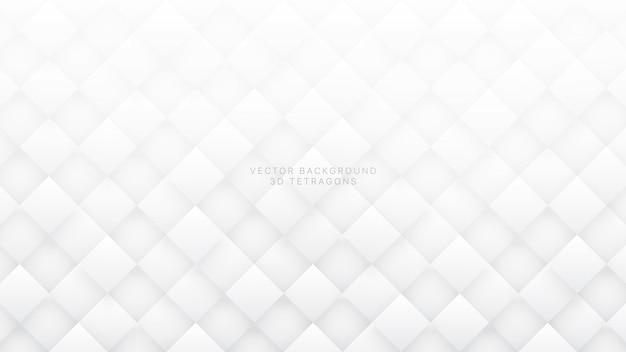 Białe tło 3d romb streszczenie