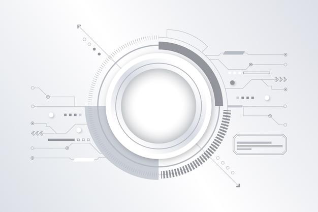 Białe tło futurystyczna technologia