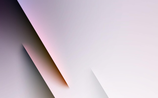 Białe tło gradientowe pasek światła i koloru cienia