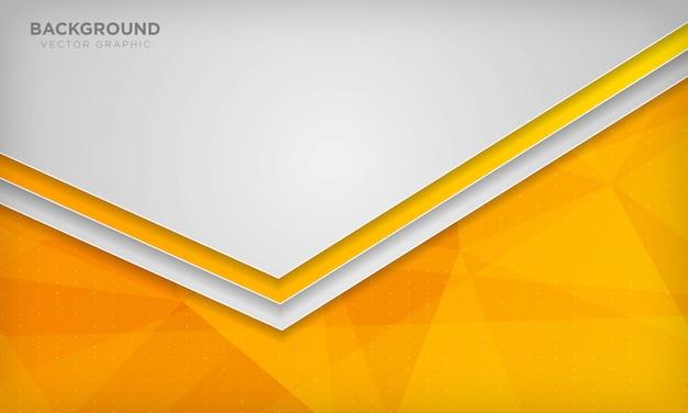 Białe tło nakładają się na pomarańczowe geometryczne wielokątne tekstury.