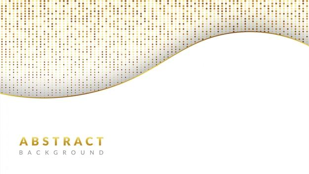 Białe tło nakładają się warstwy ze złotymi błyskotkami