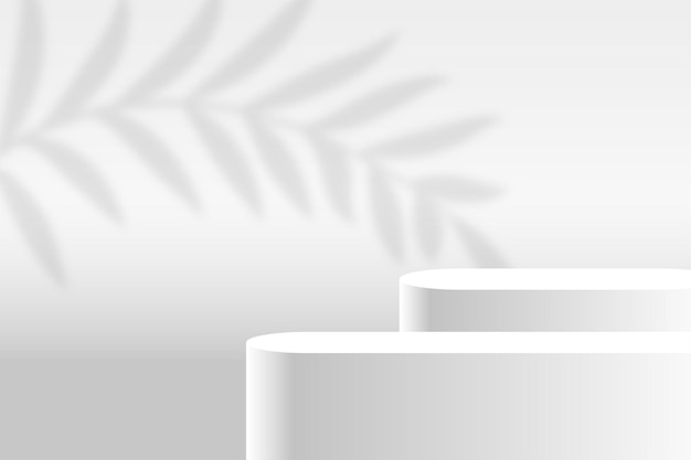 Białe tło platformy etapu wyświetlania produktu
