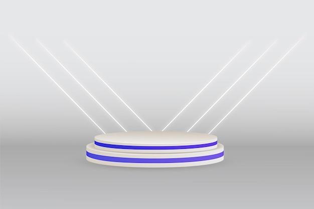 Białe tło studyjne z podium wyświetlania produktu na baner reklamowy