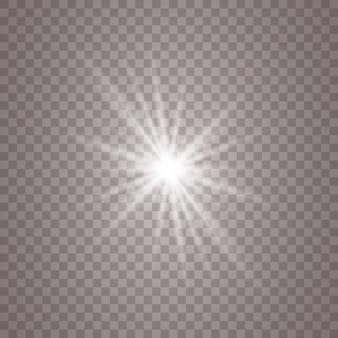 Białe tło świecące światła