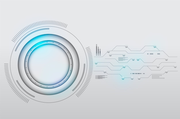 Białe tło technologii