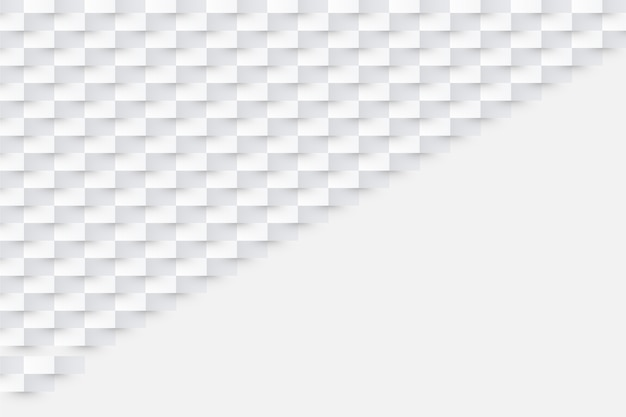 Białe tło w stylu 3d papieru