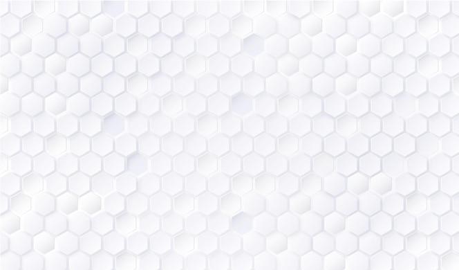 Białe tło wzór sześciokąta