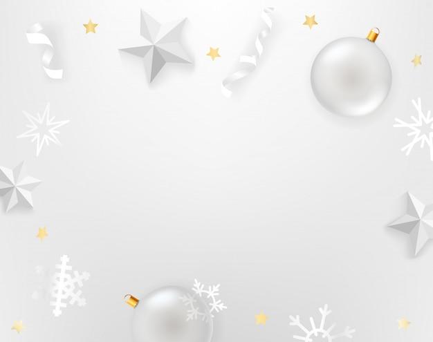 Białe tło z białymi akcesoriami. widok z góry