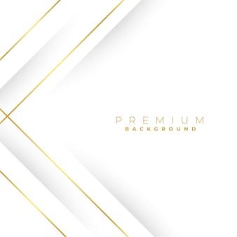 Białe tło z geometrycznymi złotymi liniami
