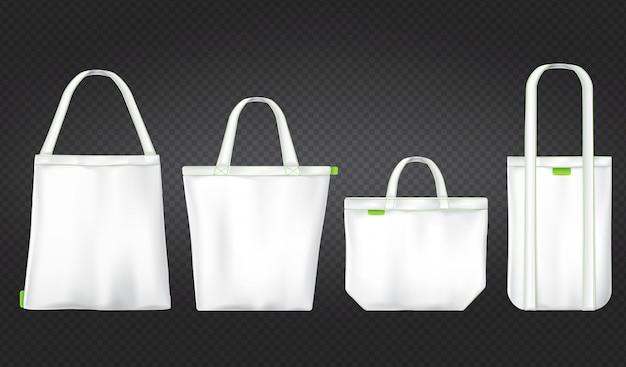 Białe torby ekologiczne na zakupy