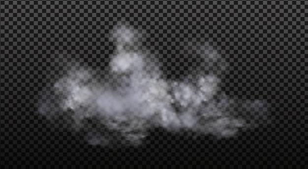 Białe zachmurzenie, mgła lub dym