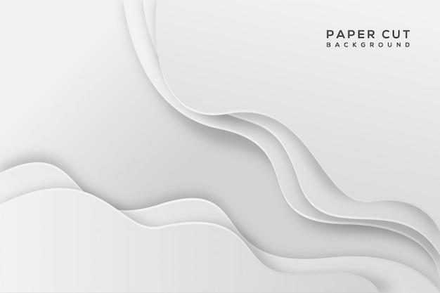 Białego abstrakta papieru rżnięty tło