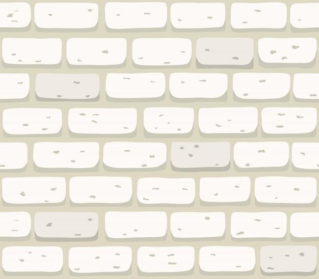 Białej ściana z cegieł tekstury bezszwowa ilustracja