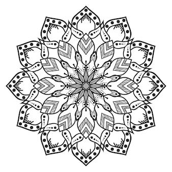 Biało-czarna okrągła mandala