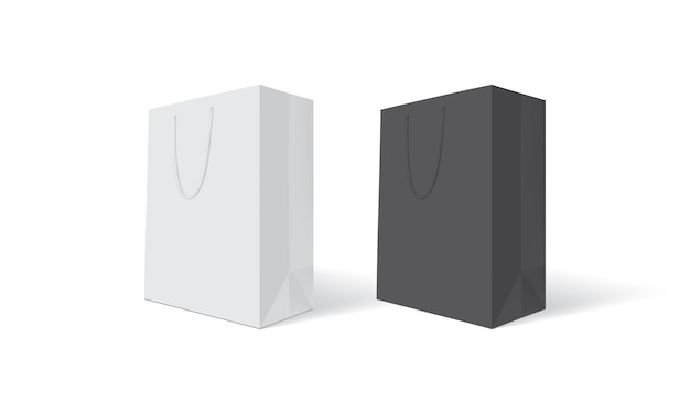 Biało-czarna torba papierowa