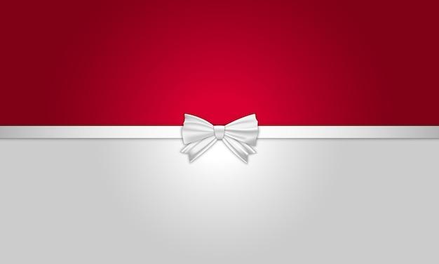 Biało -czerwone pozdrowienie tło ze wstążką. dobry na baner.