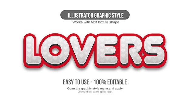 Biało-czerwone serce z zaokrągloną typografią