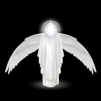 Biały anioł na czarno