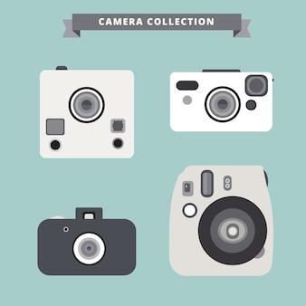 Biały aparat fotograficzny kolekcji
