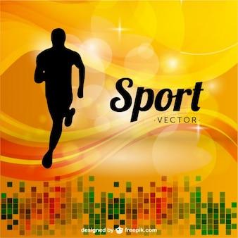 Biały biegacz sport