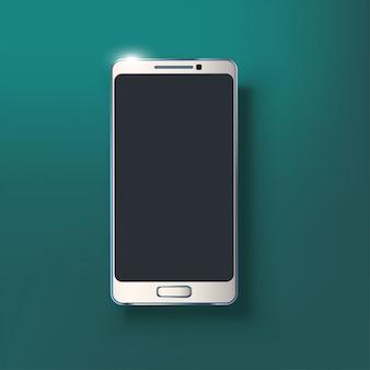 Biały błyszczący smartfon