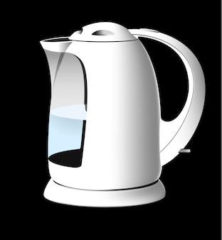 Biały czajnik