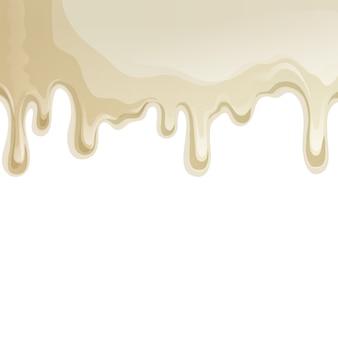 Biały czekolada kapie tło